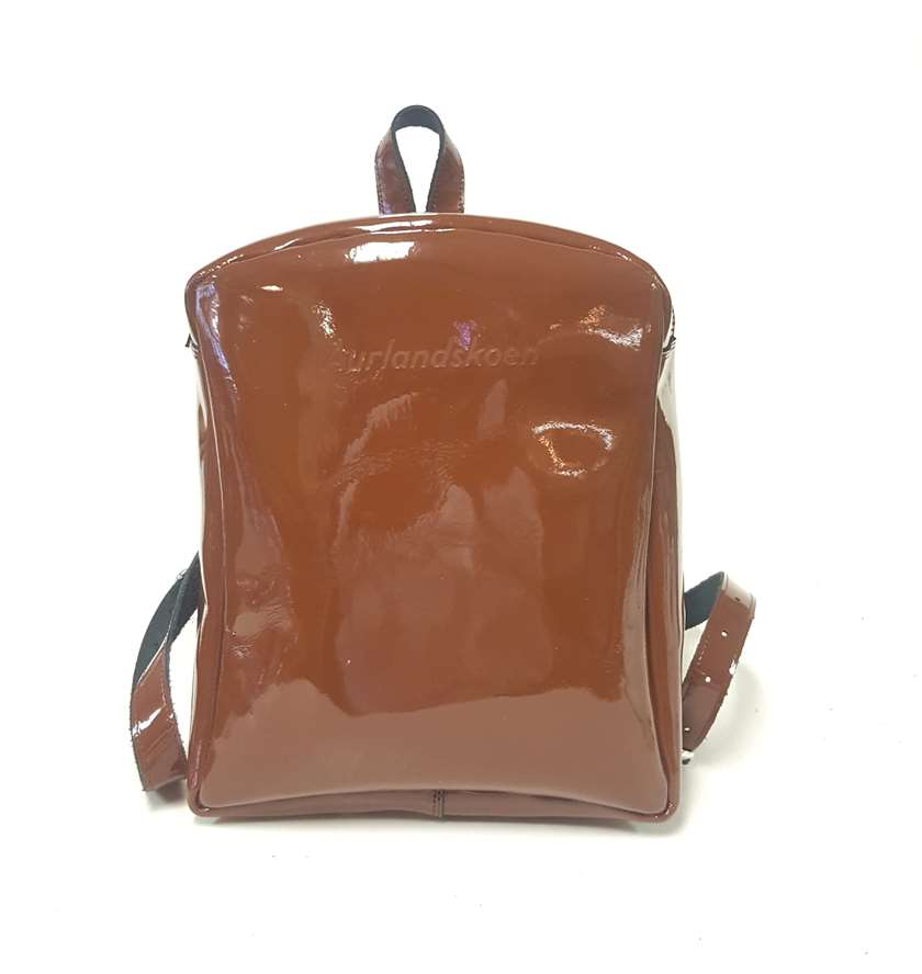 Backpack brown patent