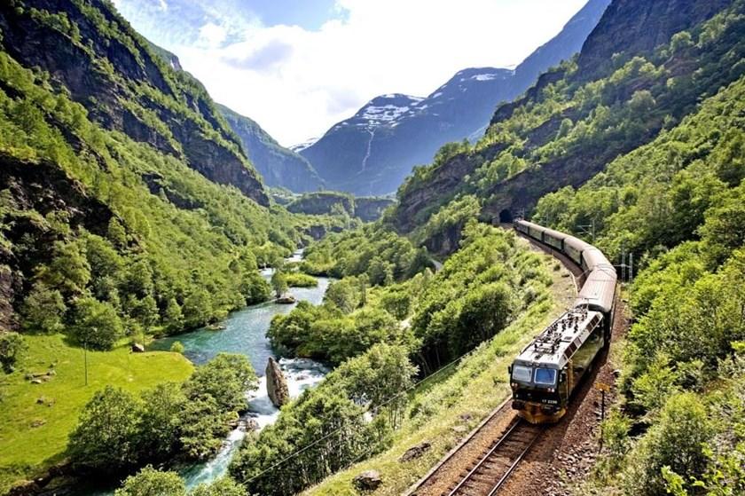 Flamsbana Railway from Flaam
