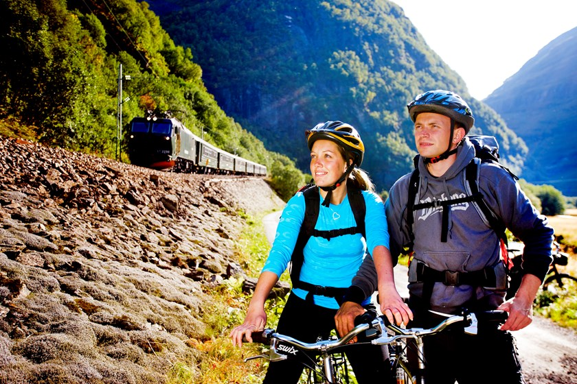 The Flåm Railway and bicycle package