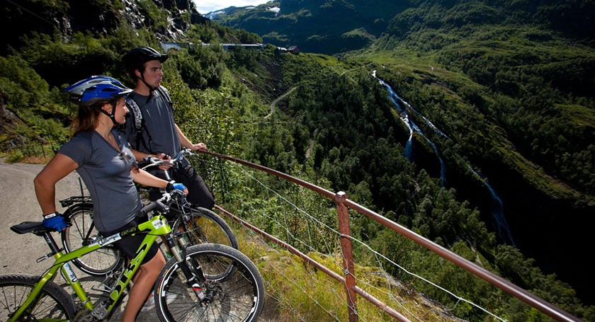 Experience beautiful Flåm on a bike