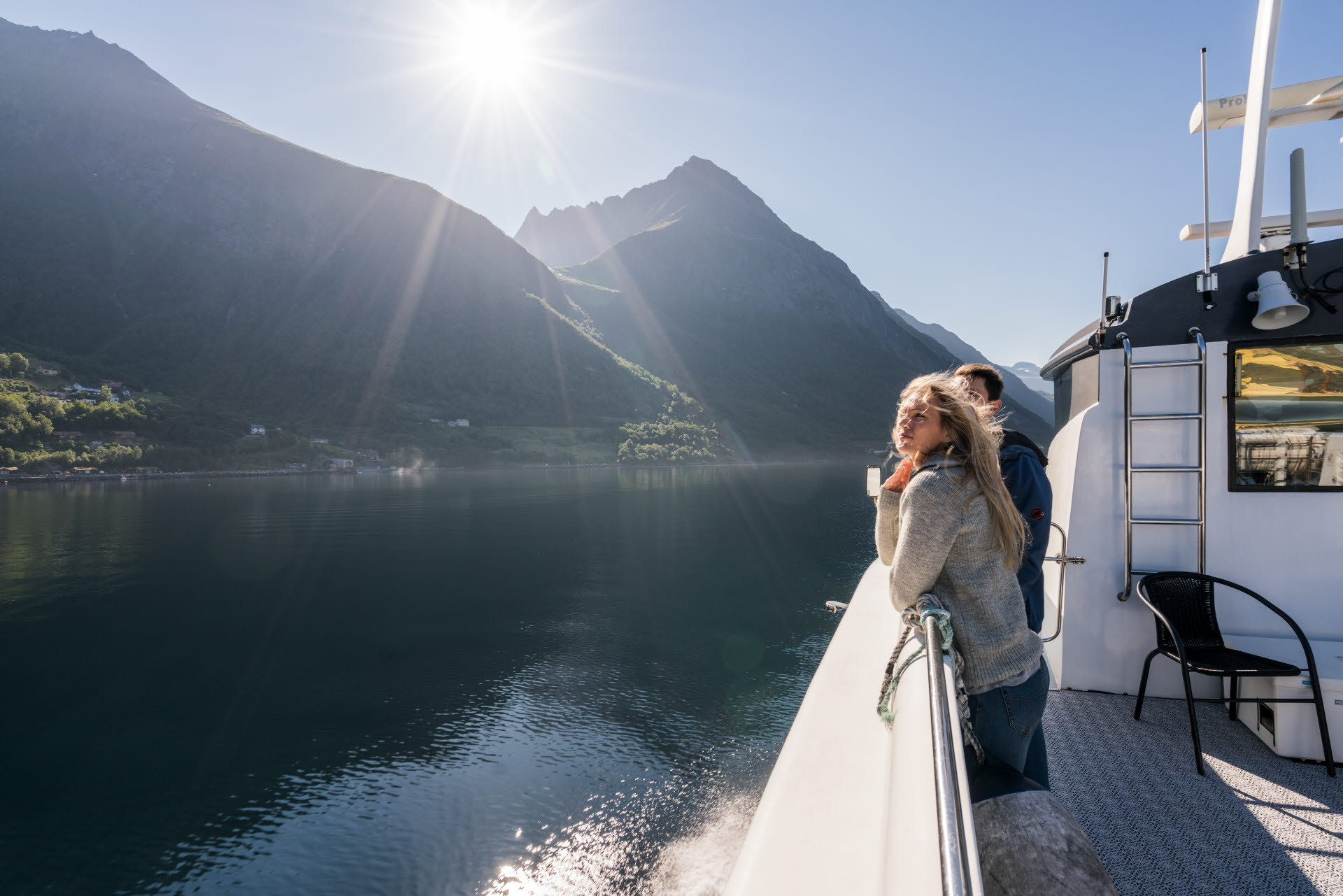 Cruising the Hjørundfjord