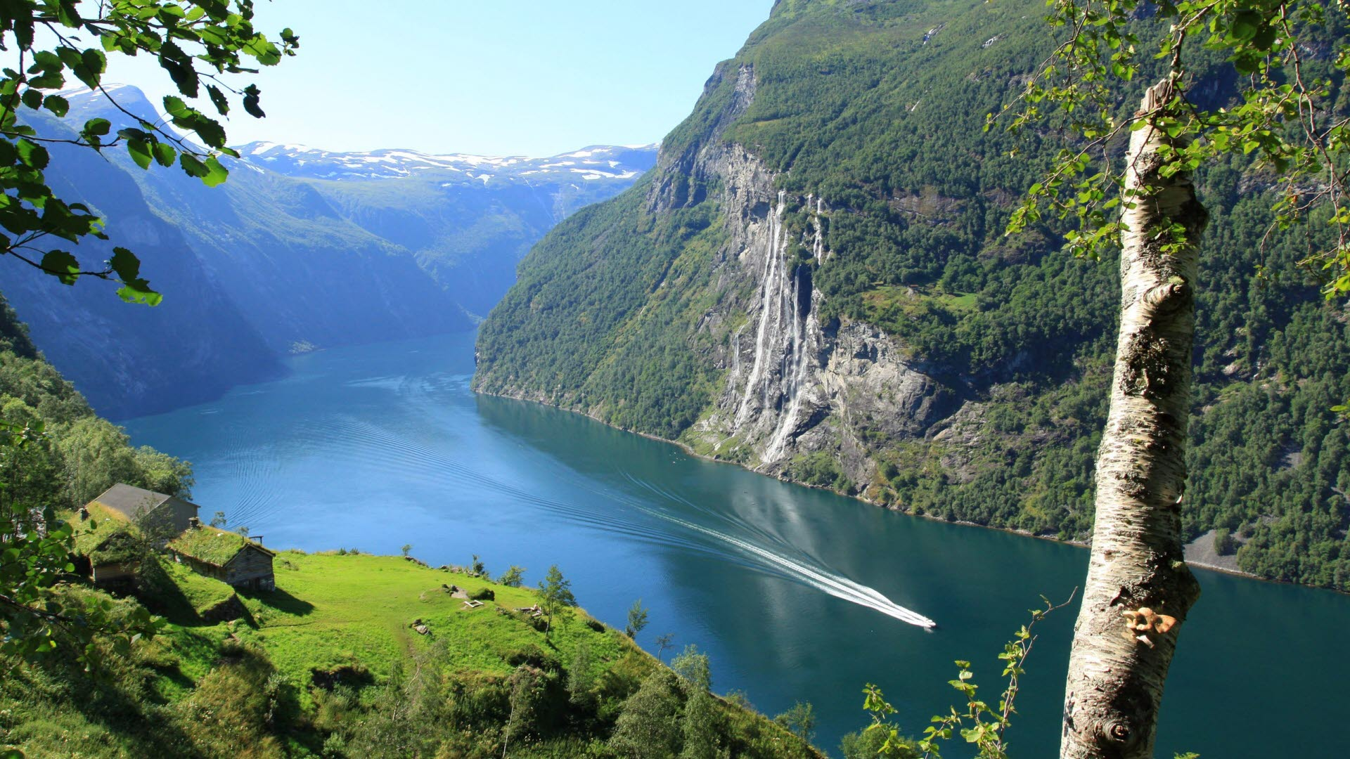 Fjord Cruise Geiranger in the summer