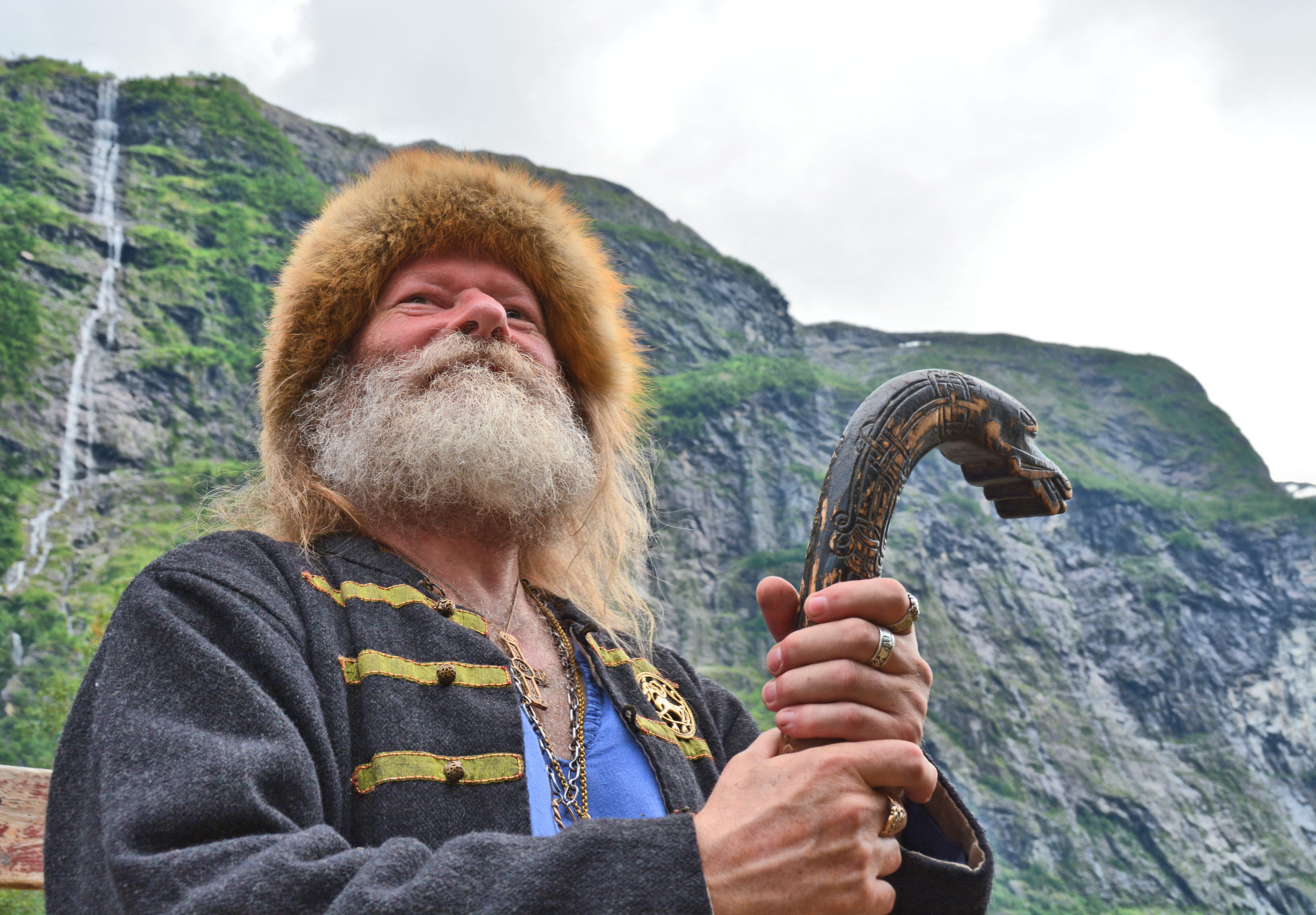 Real Norwegian viking in Gudvangen