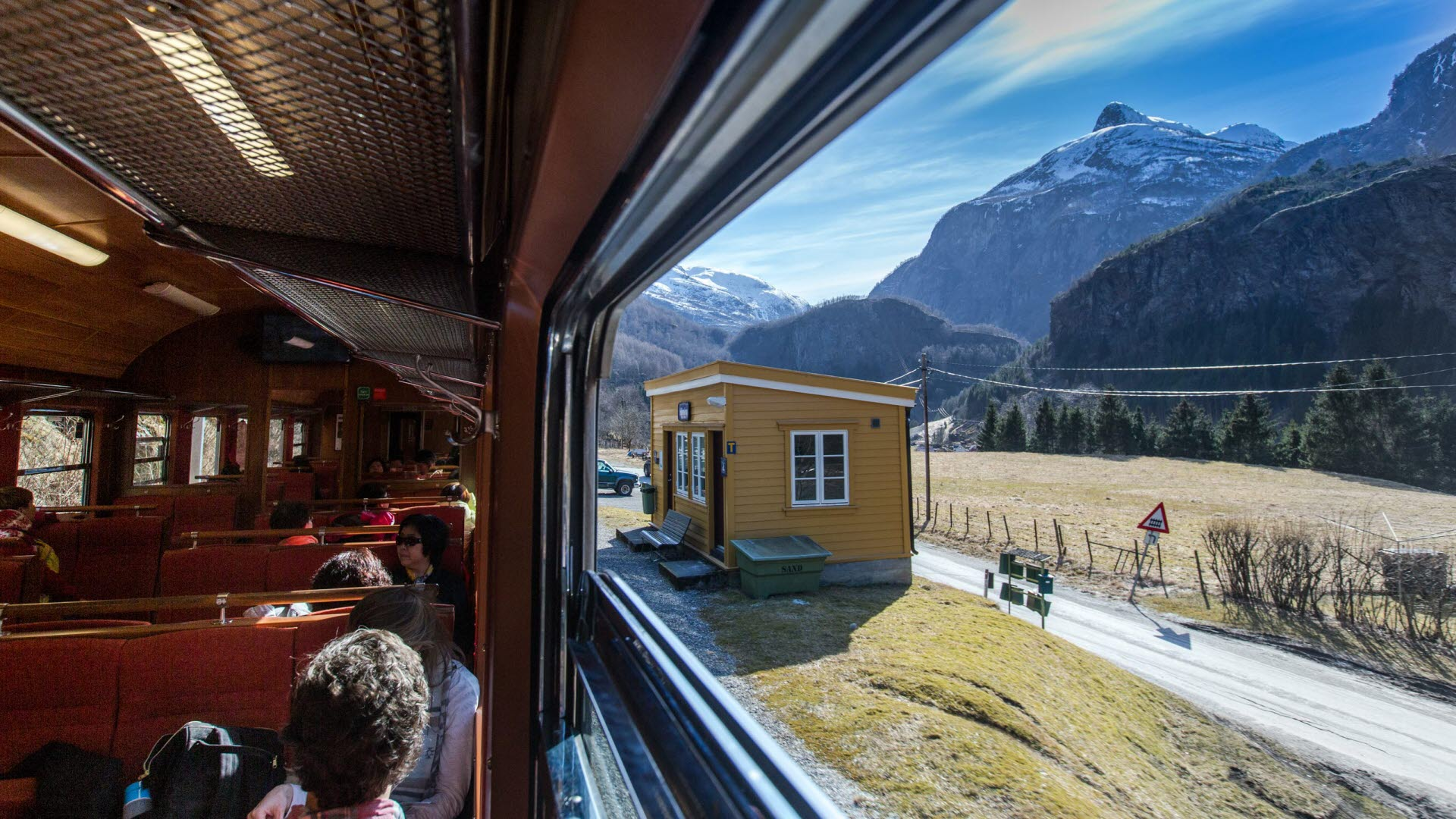 Experience the Flam Railway in spring
